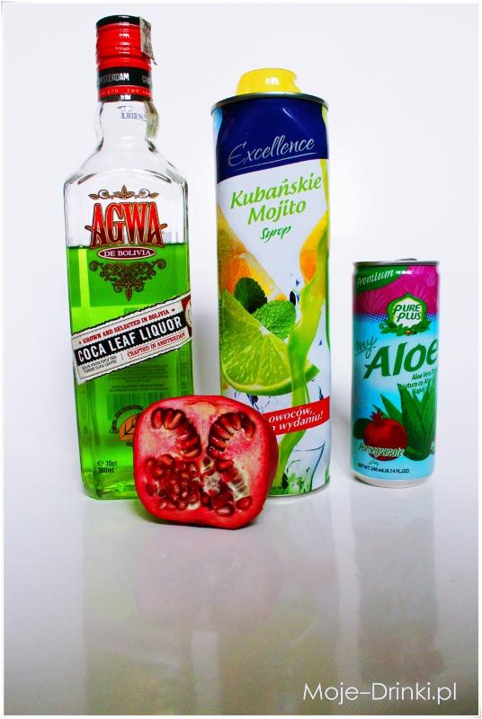 składniki drink granatowy lemon